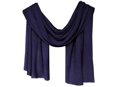 sjaal cashmere -inktblauw