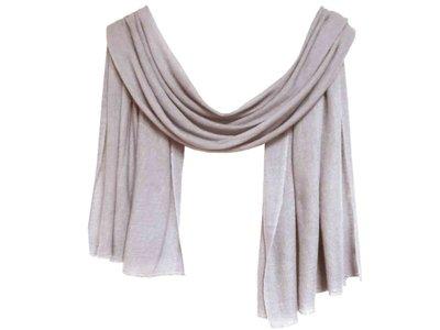 sjaal cashmere - zacht grijs