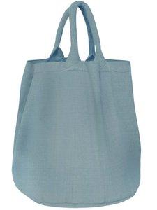 opbergzak/ tas rond zware katoen - zeeblauw