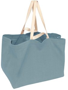 tas XL dubbel handvat zware katoen-zeeblauw