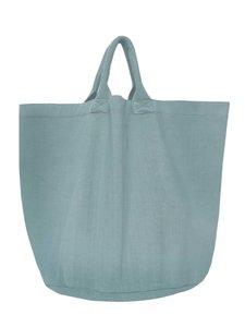opbergzak/tas  rond zware katoen -zeeblauw