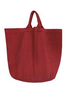 opbergzak/tas  rond zware katoen -roodbruin