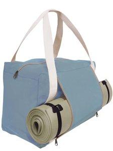 yogatas/ weekendtas met mathouder - zeeblauw