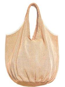 tas / tote bag XL -ronde bodem visgraat- maisgeel