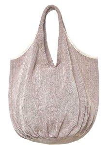 tas / tote bag XL -ronde bodem visgraat- bruin