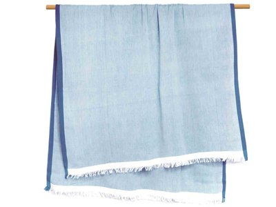 hammam/stranddoek gemêleerd 4 -jeansblauw/wit