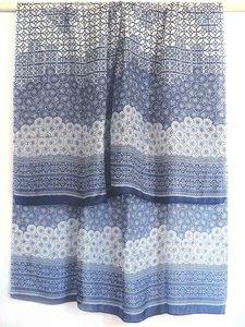 sjaal zijde-3 met print blauw/wit