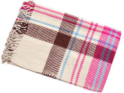 Prachtige warme wollen plaid voor bed of bank; woonaccessoires bij Heinde & van Verre