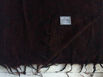 deken-plaid wolmix/katoen gemêleerd bordeaux/zwart