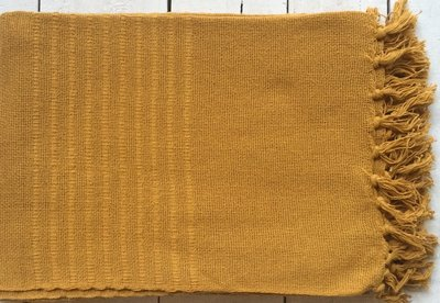 plaid handwoven cotton ocre
