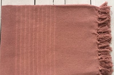 plaid handwoven cotton dark old pink