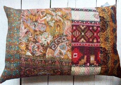 sierkussen 60x40 vintage 2-full silk patchwork
