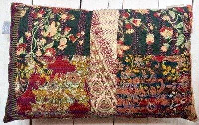 sierkussen 60x40 vintage 1-full silk patchwork