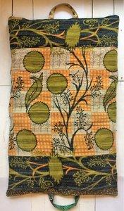 kussen pick-up 4-vintage katoen met hengsels oranje-army met groen-bruin