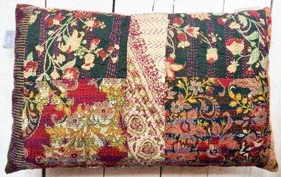 sierkussen vintage full silk patchwork-1