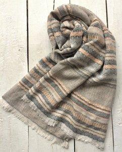 sjaal  jaquard weefsel naturel colours