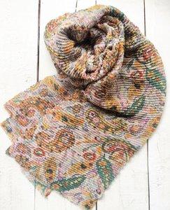 sjaal  plissé paisley print multicolour