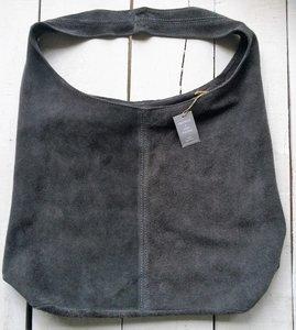 tas tote bag suede 2-warm grijs