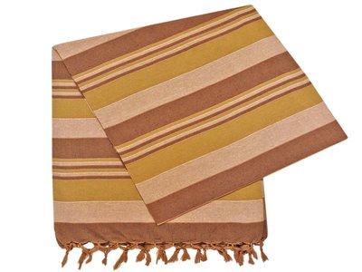grand foulard katoen army/browne stripe