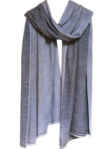 sjaal cashmere 2-tone grijs