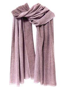 sjaal cashmere 2-tone mauve