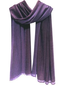 sjaal cashmere 2-tone paars