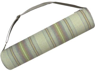 tas yogamat-hoes streep zeegroen 14 x 70 cm