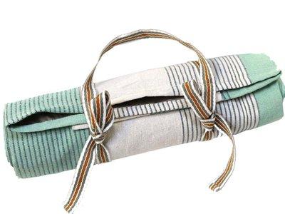 picknickkleed streep met bandjes