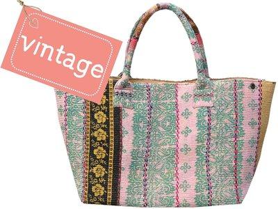 tas shopper XL vintage stof Boho-style ethnic mix 3040-1