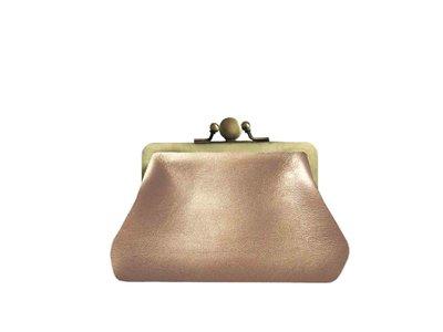 portemonnee leer knip klein brons