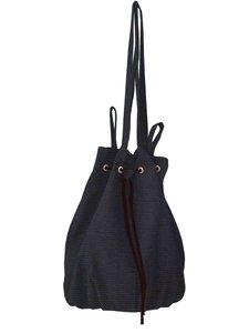 tas buidel/schoudertas katoen- zwart
