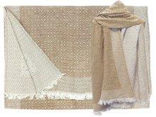 sjaal wol/katoen diamond reversible caramel