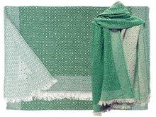 sjaal wol/katoen diamond reversible moss