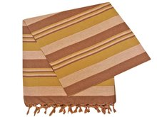 grand foulard katoen army/browne stripe