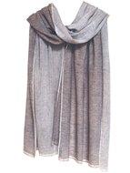 sjaal cashmere 2-tone naturel
