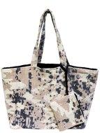 tas shopper XL met etui off-white/pinktas shopper XL met etui off-white/pink