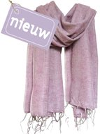 omslagdoek wolmix/katoen roze gemêleerd
